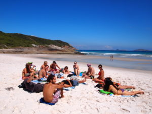 Wilsons Prom, Australia。キャンプ仲間とビーチピクニックは最高です。