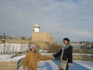 エストニアのマリナとカーチャ。今でも濃いつながりがあります。